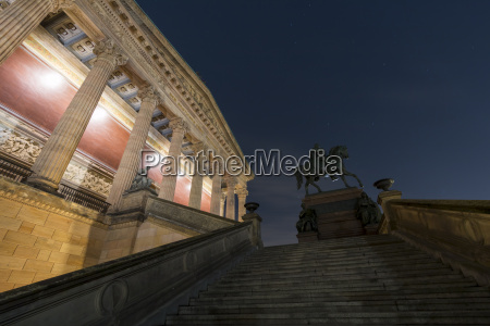 germany berlin alte nationalgalerie at night