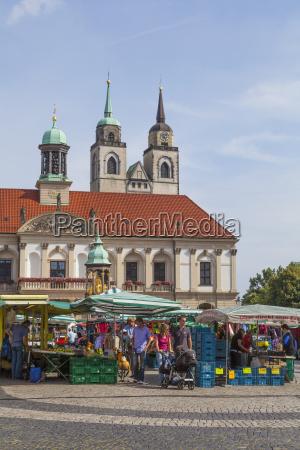 germany saxony anhalt magdeburg old market