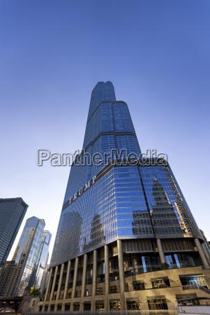 usa illinois chicago view to trump