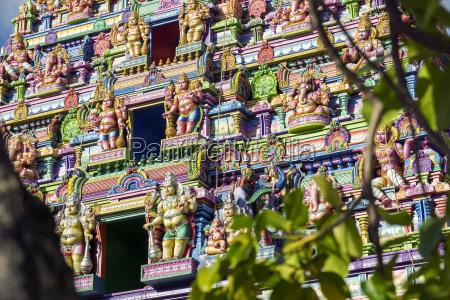 seychellen mahe victoria vorderseite des hindu