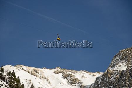 germany bavaria allgaeu alps oberstdorf cable