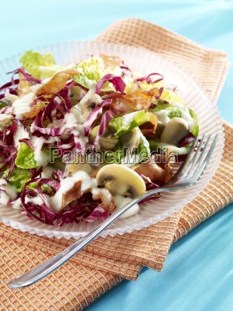 romaine salat mit birnen dressing