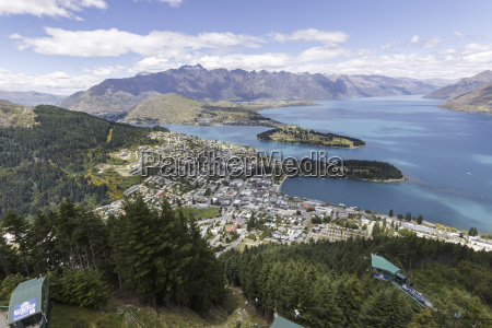 new zealand elevated view to queenstown