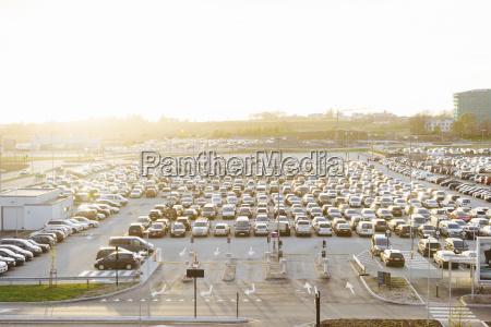 norway stavanger car park at the