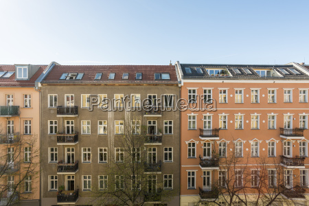 germany berlin house fronts of residential