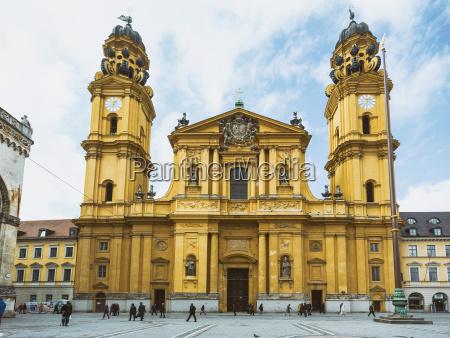 germany bavaria munich theatine church odeon