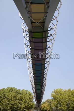 germany north rhine westphalia oberhausen footbridge