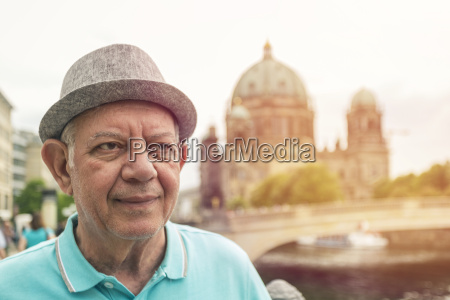 germany berlin portrait of senior man
