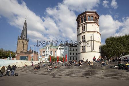 germany north rhine westphalia duesseldorf burgplatz