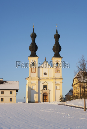 austria flachgau oberndorf view of pilgrimage