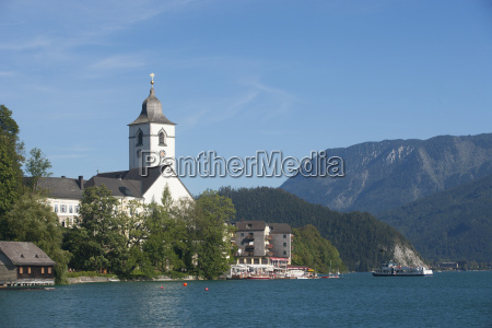 austria view of pilgrimage church at