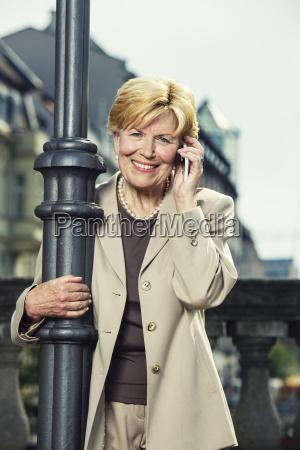 germany berlin portrait of smiling senior