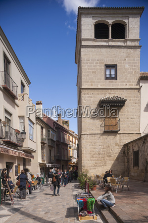 spain malaga view of old town