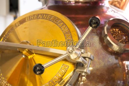 distillery for fruit brandies close up