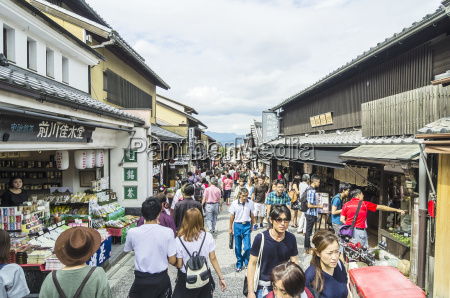 japan honshu kyoto gion district people