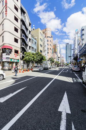 japan kobe street in downtown