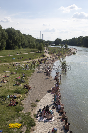 germany bavaria munich people relaxing at