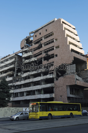 serbia belgrade bombed out ministry of