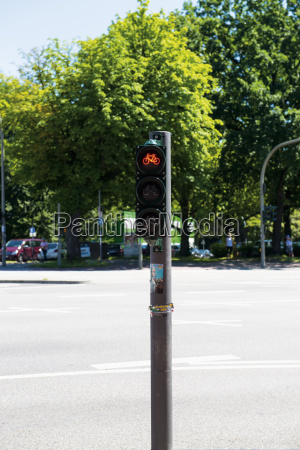 germany hamburg dammtor bicycle traffic light