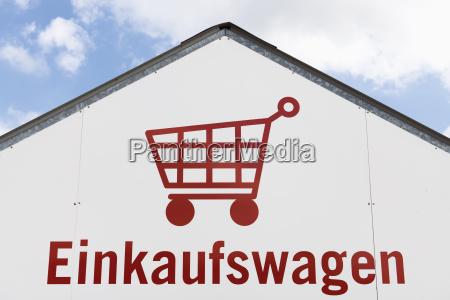 tyskland indkobskurv piktogram pa et hus