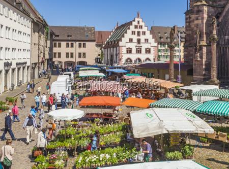 deutschland freiburg im breisgau minster square