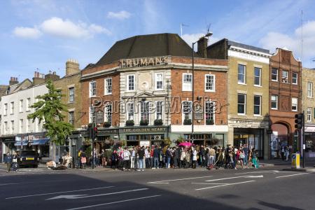 uk london menschenmenge nach der arbeit