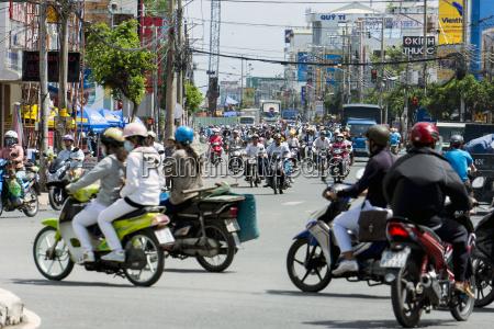 vietnam an giang long xuyen road