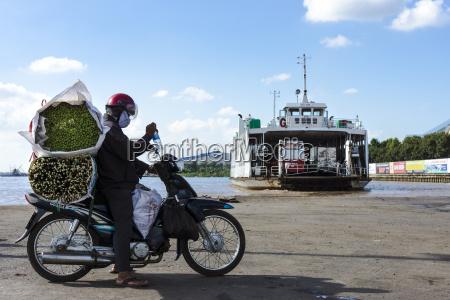 vietnam an giang long xuyen motorcyclist
