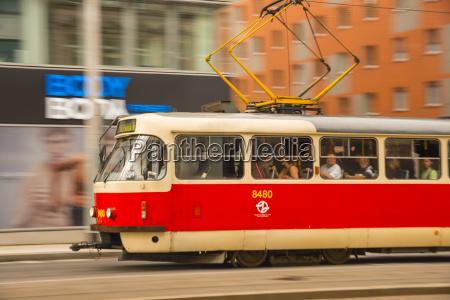 czechia prague old town old tramway
