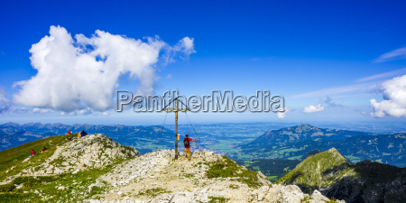germany bavaria allgaeu alps summit cross