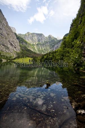 germany bavaria berchtesgaden lake obersee near