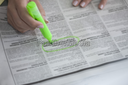 close up of woman highlighting a