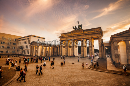 germany berlin brandenburg gate and pariser
