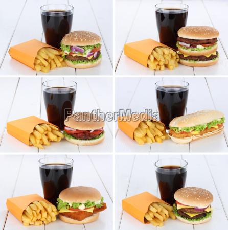 hamburger collection collage cheeseburger menu menu