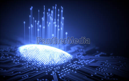fingerabdruck, binärer, mikrochip - 21138619
