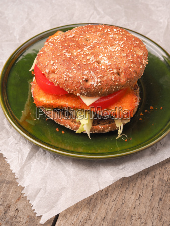 tasty homemade fish burger