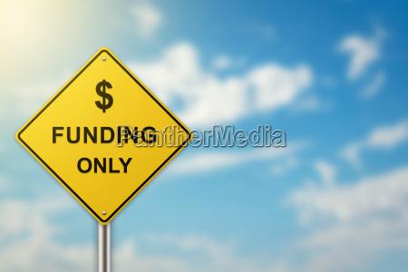 finanzierung auf verkehrszeichen