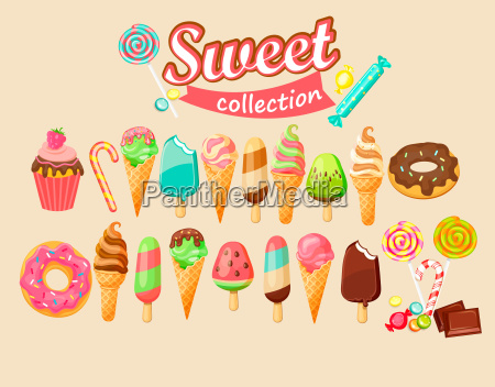 sweet food icon collection