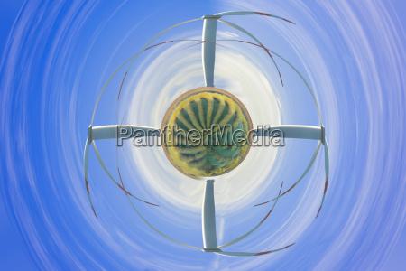 windturbine im luftstrudel