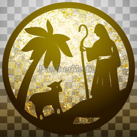 schaeferhund und schafe silhouette symbol vektor