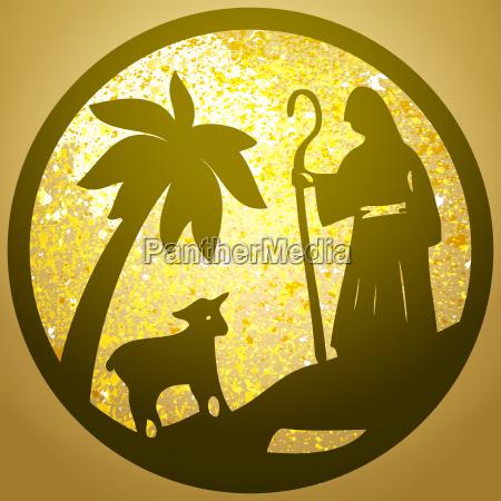 schaefer hund und schafe silhouette symbol