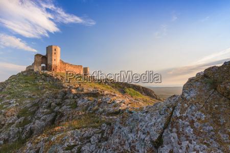 antique fortress ruins enisala romania