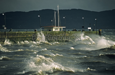 south germany lake constance hurricane in