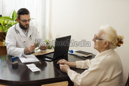 private medical practice the doctor takes