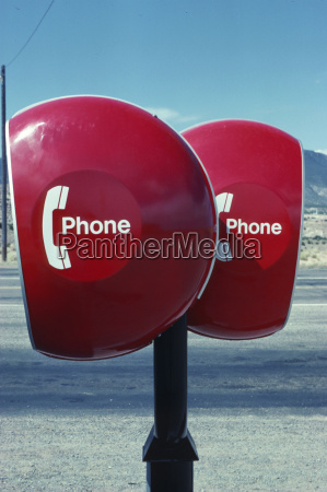 phone boxes in the desert usa