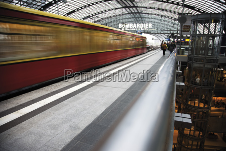 germany berlin central station blurred image