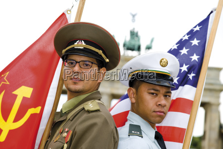 germany berlin russian and american soldier