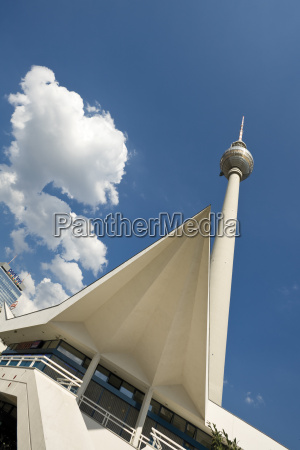 germany berlin tv tower low angle
