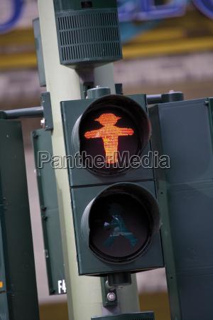 germany berlin pedestrian light signalling