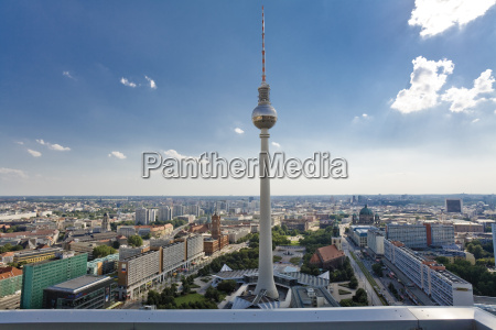 germany berlin cityscape with television tower